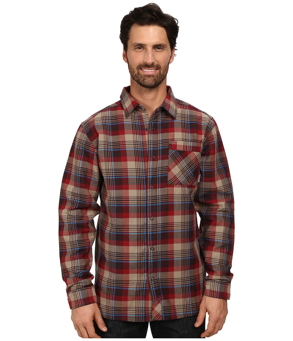 Mountain Hardwear - Reversible Flannel Plaid Long Sleeve Shirt (Smolder Red) Men's Long Sleeve Button Up