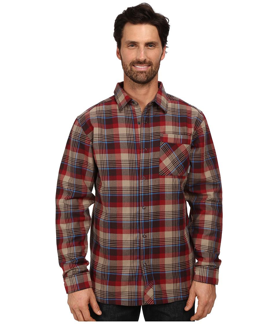 Mountain Hardwear - Reversible Flannel Plaid Long Sleeve Shirt (Smolder Red) Men's Long Sleeve Button Up