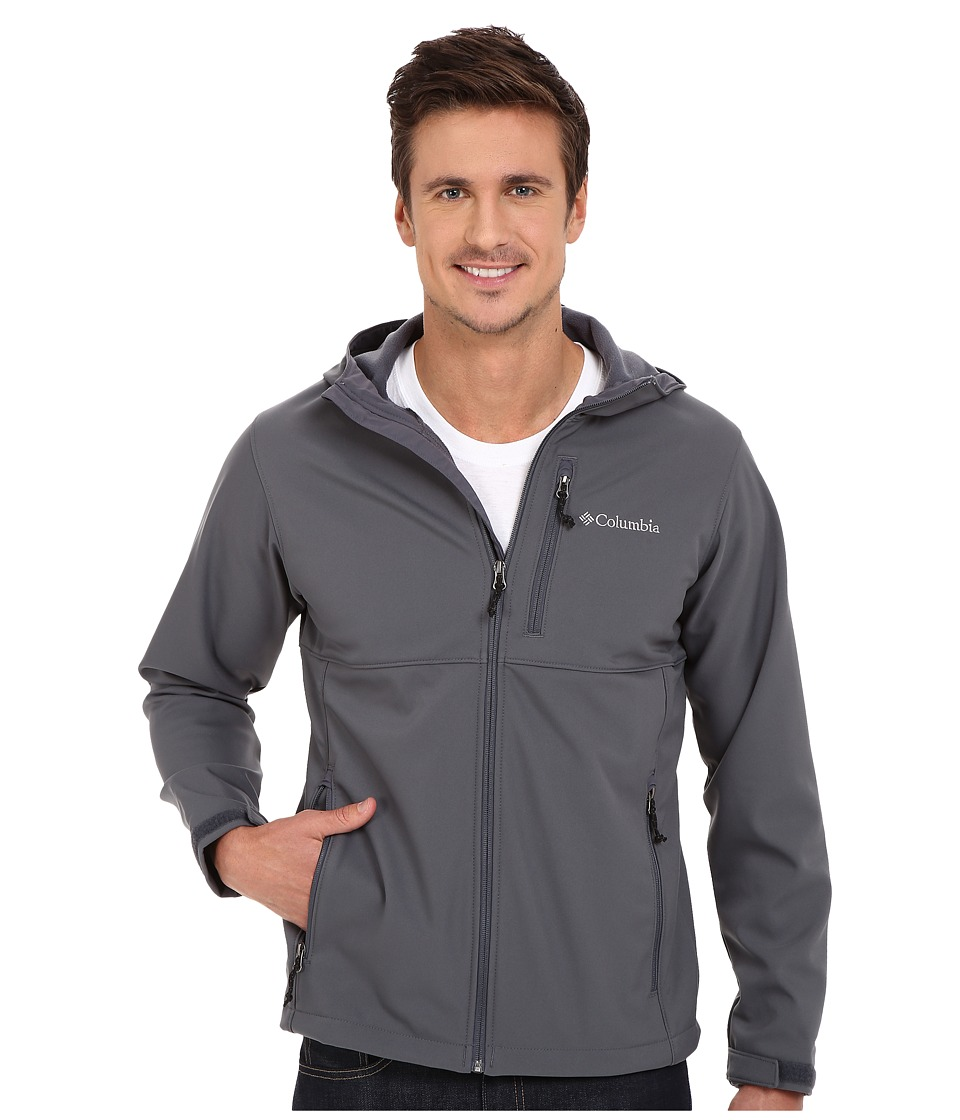 Columbia - Ascender Hooded Softshell Jacket (Graphite) Men's Coat