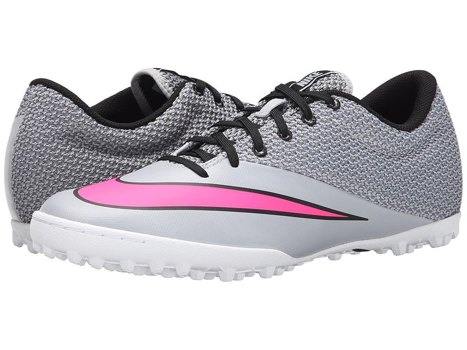 Nike - Mercurialx Pro TF (Wolf Grey/Black/White/Hyper Pink) Men's Soccer Shoes