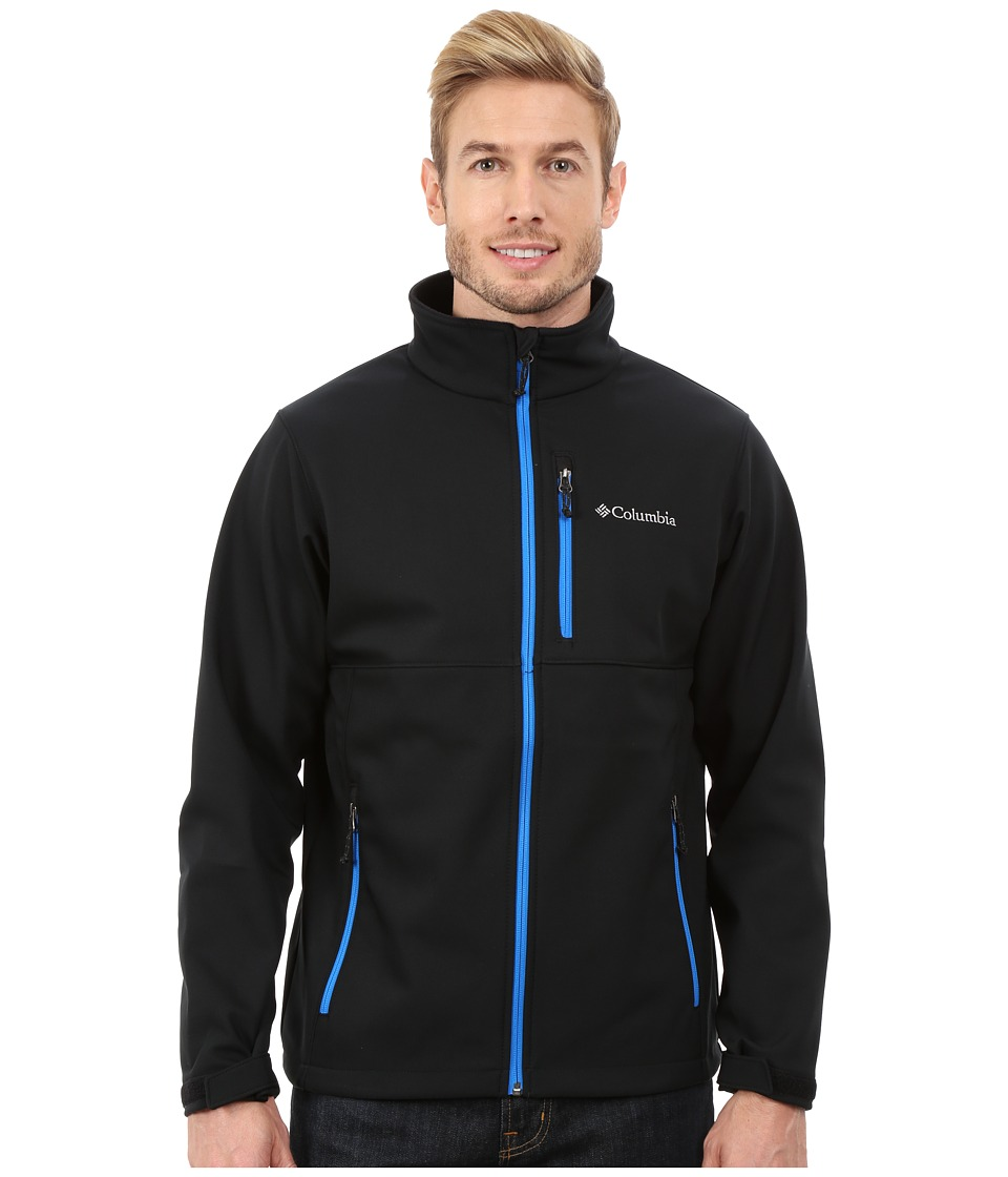Columbia - Ascendertm Softshell Jacket (Black/Hyper Blue) Men's Coat