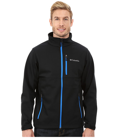 Columbia - Ascender Softshell Jacket (Black/Hyper Blue) Men's Coat
