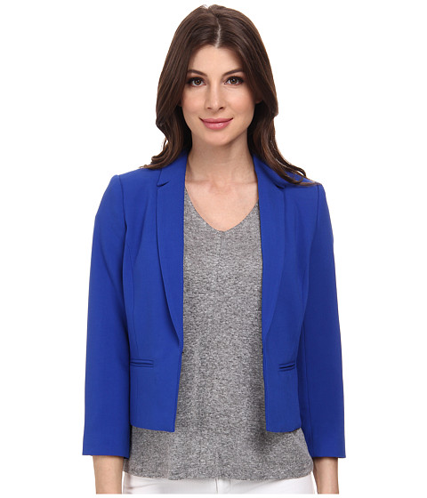 Adrianna Papell - Cropped Jacket w/ Back Crossover (Cobalt) Women's Jacket
