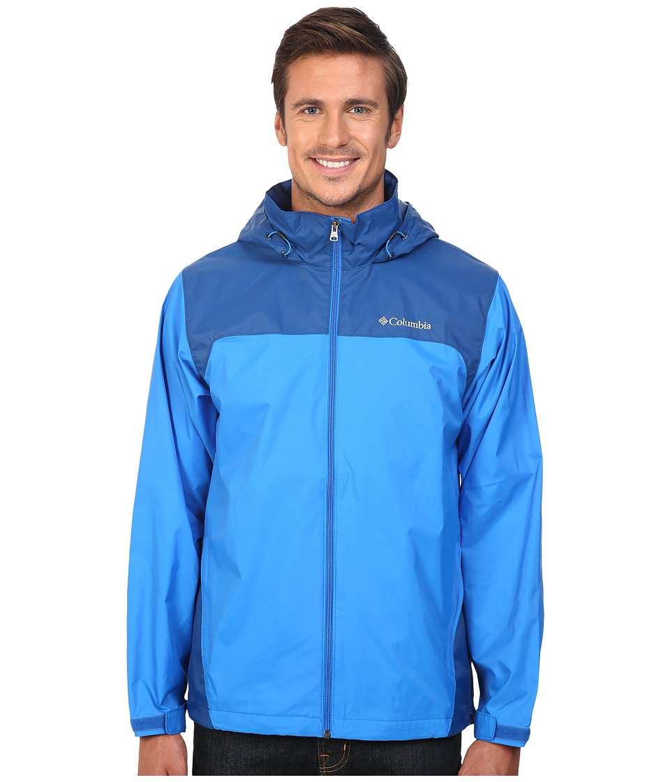Columbia Glennaker Lake Rain Jacket (Hyper Blue/Marine Blue) Men