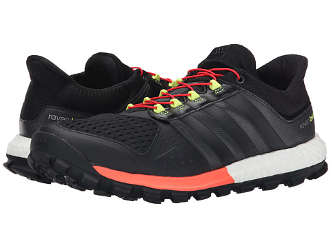 adidas Outdoor - Adistar Raven Boost (Black/Black/Solar Red) Men