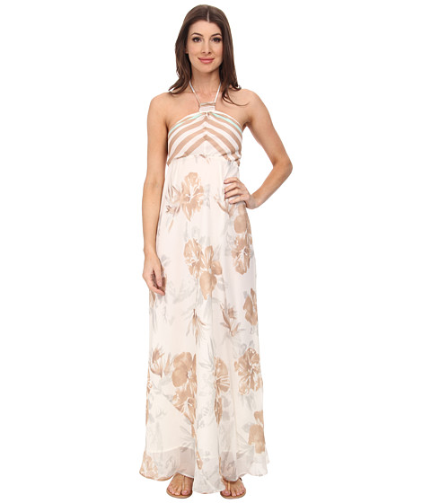 Tommy Bahama - Versilia Garden Halter Dress (Light Coffee) Women's Dress