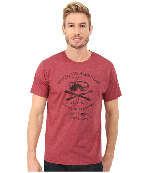 Mountain Hardwear - Ski Hardwear Short Sleeve Tee (Heather Smolder Red) Men