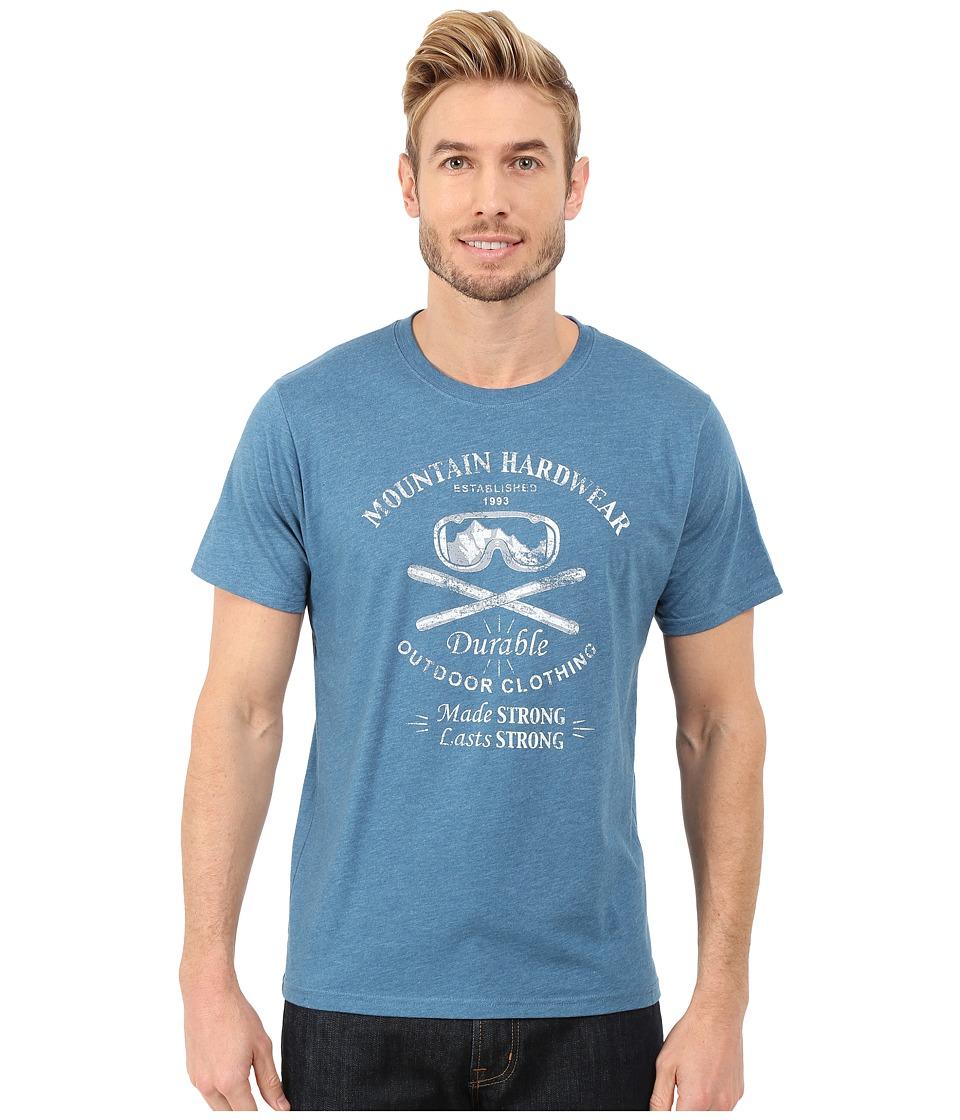 Mountain Hardwear - Ski Hardwear Short Sleeve Tee (Heather Bluesteel) Men's T Shirt