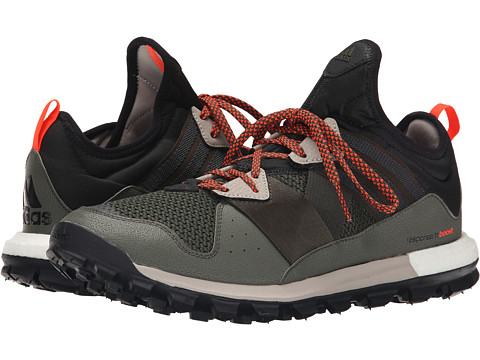 adidas Outdoor - Response Trail Boost (Black/Solar Red/Light Brown) Men
