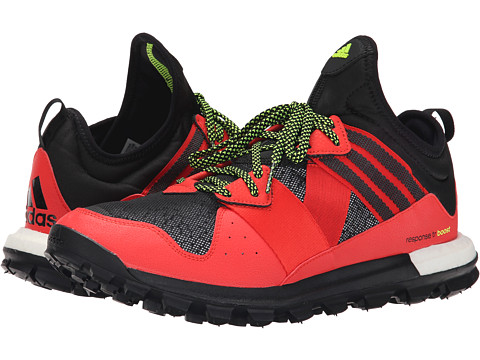 adidas Outdoor - Response Trail Boost (Solar Red/Black/Solar Yellow - Reflective) Men's Shoes
