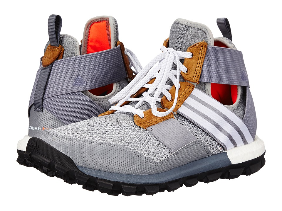 adidas Outdoor - Response Trail Boost Boot (Heather/White/Solar Red) Men's Shoes