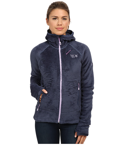 Mountain Hardwear - Monkey Woman Grid II Hooded Jacket (Zinc/Phantom Purple) Women's Coat