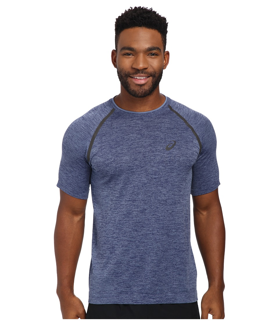 ASICS - Seamless Short Sleeve (Dark Cobalt) Men's Workout