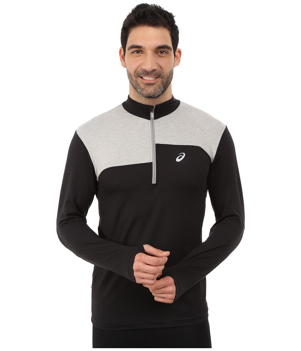 ASICS - Thermopolis 1/2 Zip (Performance Black/Light Grey Heather) Men's Long Sleeve Pullover