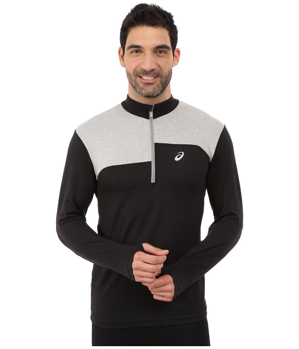 ASICS - Thermopolis 1/2 Zip (Performance Black/Light Grey Heather) Men's Long Sleeve Pullover