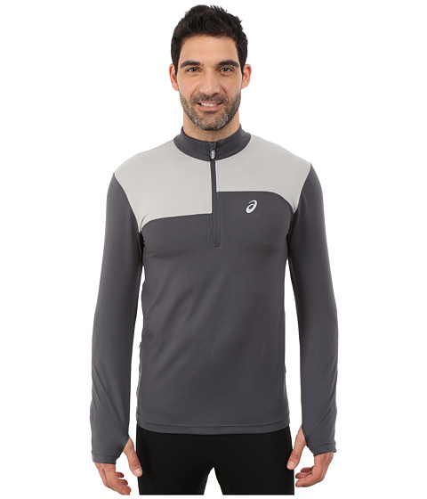 ASICS - Thermopolis 1/2 Zip (Dark Grey/Light Grey) Men's Long Sleeve Pullover