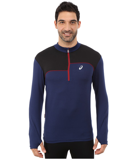 ASICS - Thermopolis 1/2 Zip (Indigo Blue/Performance Black) Men