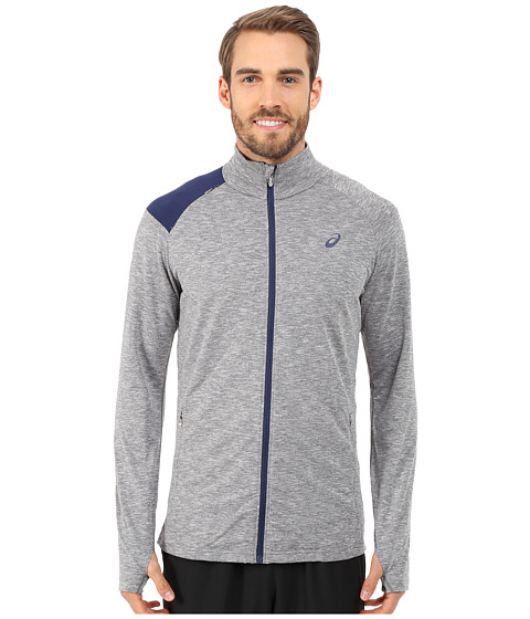 ASICS - Thermopolis Full Zip Jacket (Dark Grey Heather) Men