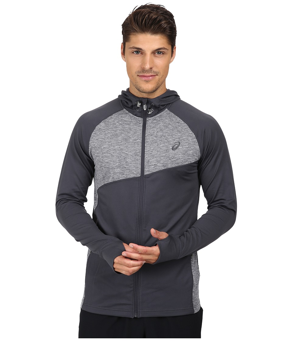 ASICS - Thermopolis Hoodie (Dark Grey/Dark Grey Heather) Men's Coat