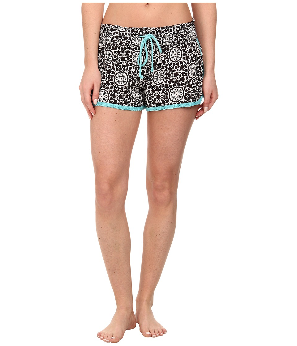 P.J. Salvage - Calle Chic B/W Print Short (Black) Women's Pajama
