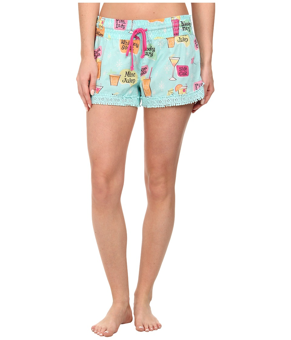 P.J. Salvage - Cocktail Print Sleep Short (Aqua) Women's Pajama