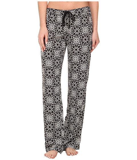 P.J. Salvage - Calle Chic B/W Print Sleep Bottom (Black) Women's Pajama