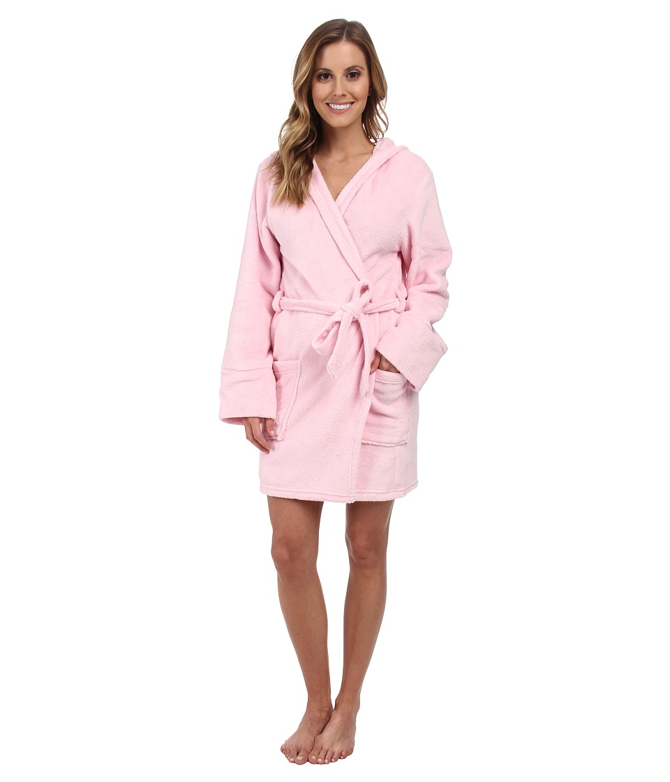 P.J. Salvage - Pink Robe w/ Rhinestone Lily Applique (Pink) Women's Robe