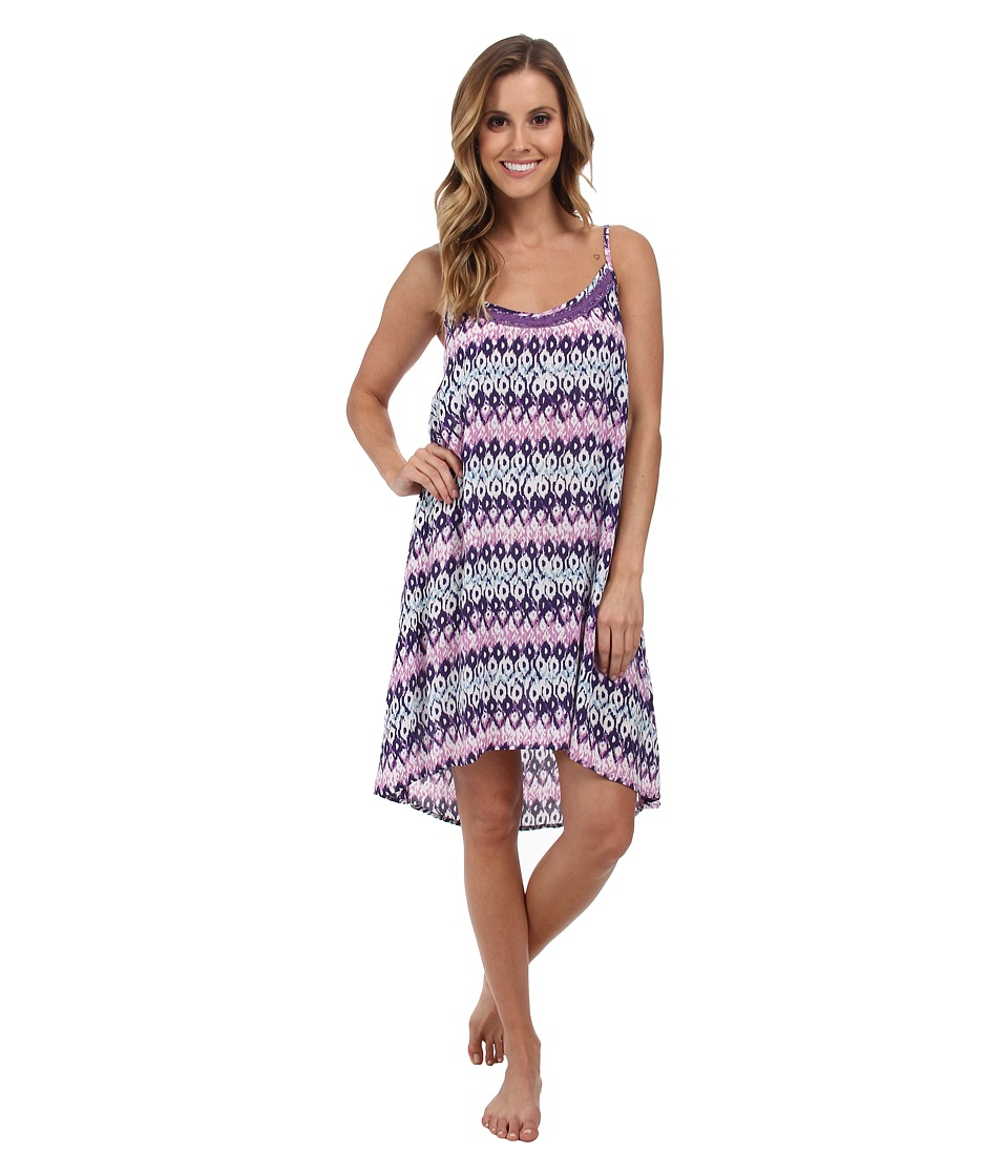 P.J. Salvage - Ikat Print Sleep Chemise (Purple) Women's Pajama