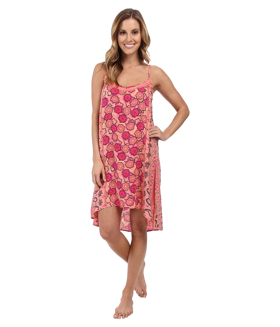 P.J. Salvage - Floral Print Sleep Chemise (Melon) Women's Pajama