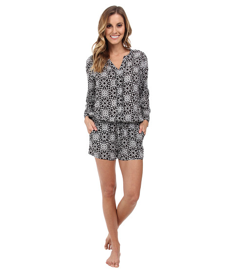 P.J. Salvage - Challe Chic Black Sleep Romper (Black) Women's Jumpsuit & Rompers One Piece