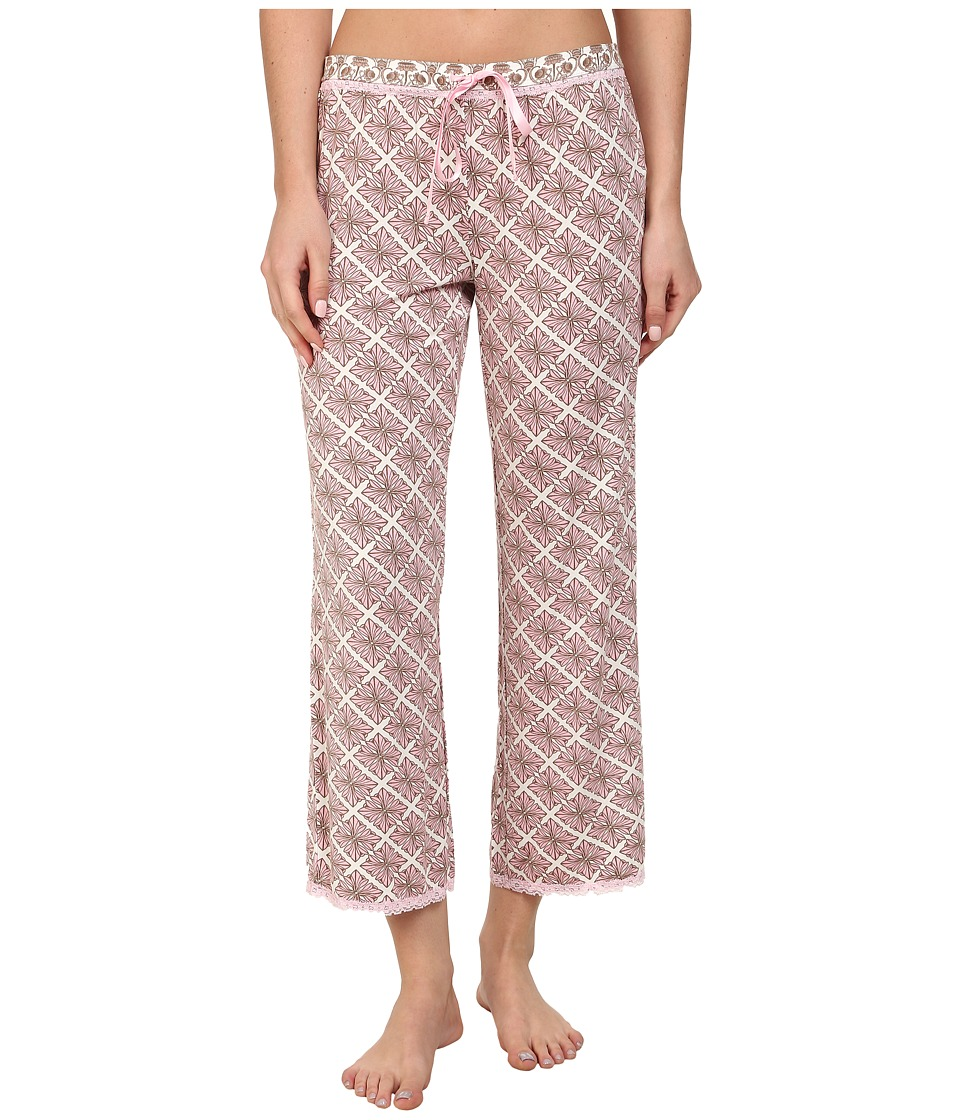 P.J. Salvage - Pink Touch Sleep Capri w/ Lace Trim (Pink) Women's Pajama