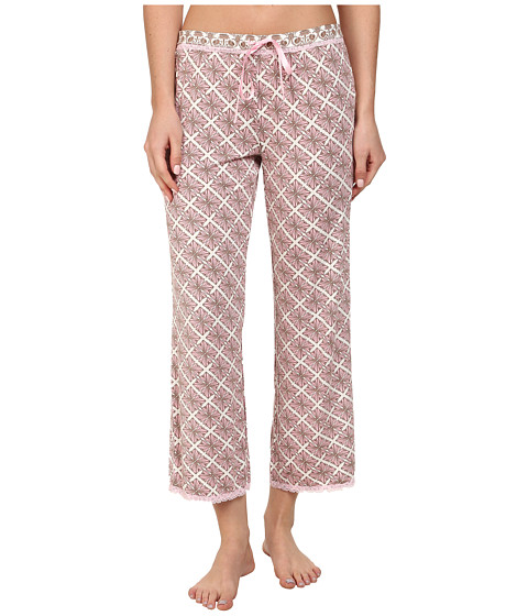 P.J. Salvage - Pink Touch Sleep Capri w/ Lace Trim (Pink) Women