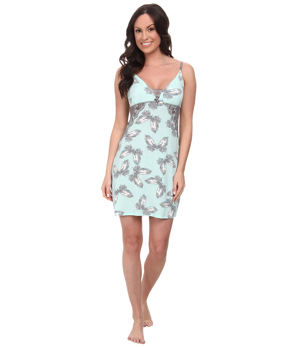 P.J. Salvage - Butterfly Print Sleep Chemise (Mint) Women
