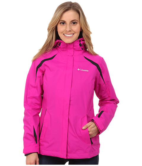 Columbia - Blazing Star Interchange Jacket (Groovy Pink/Black) Women's Coat