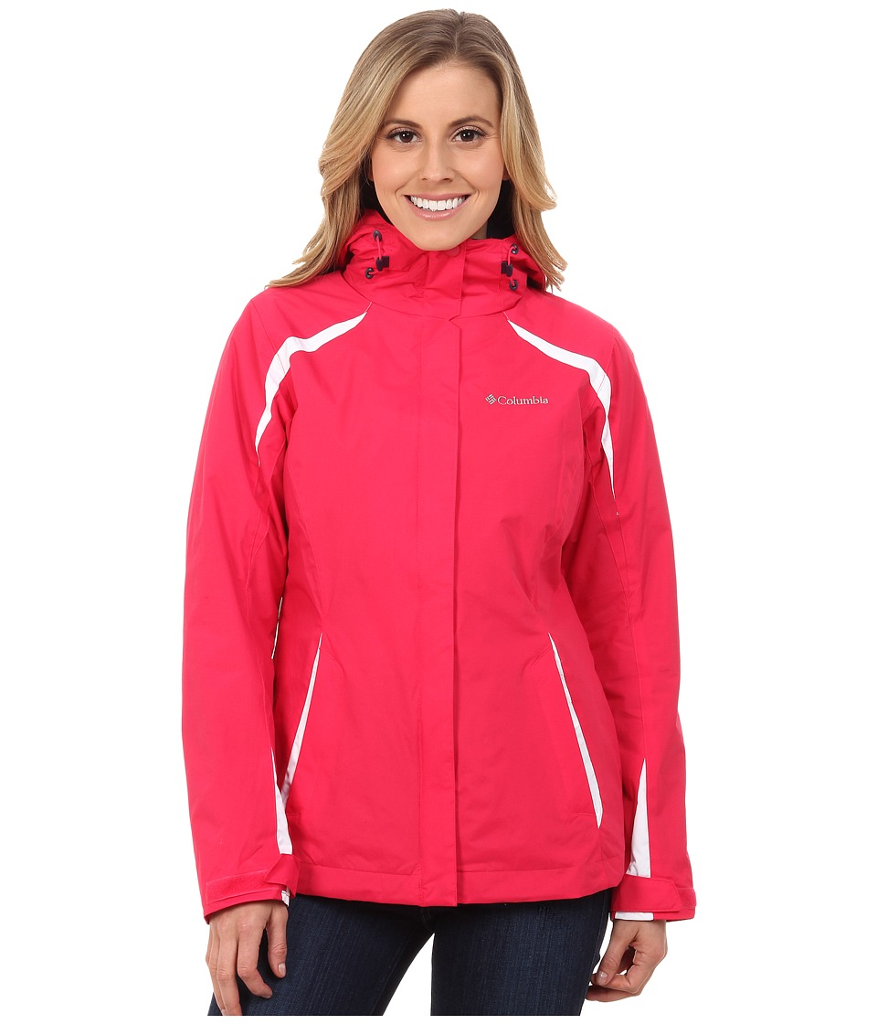 Columbia - Blazing Star Interchange Jacket (Ruby Red/White) Women's Coat