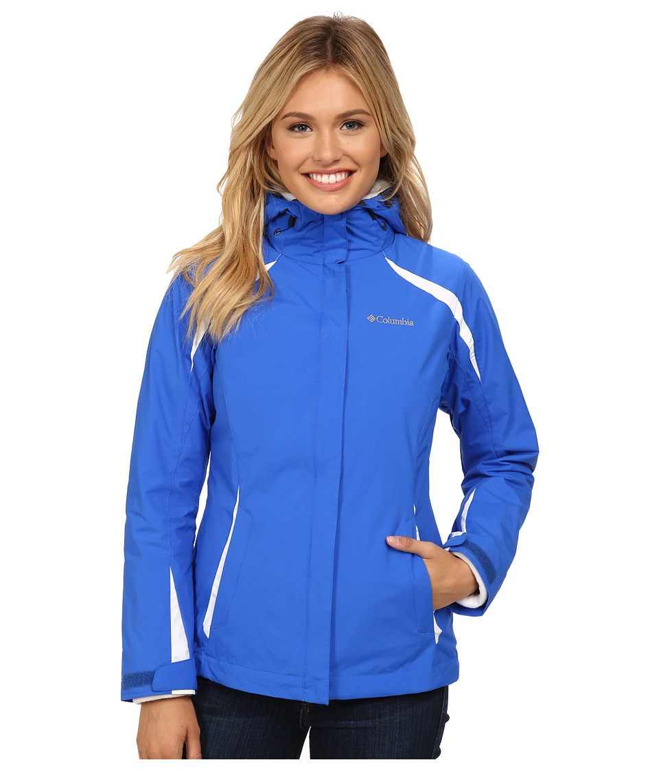 Columbia - Blazing Star Interchange Jacket (Blue Macaw/White White) Women's Coat