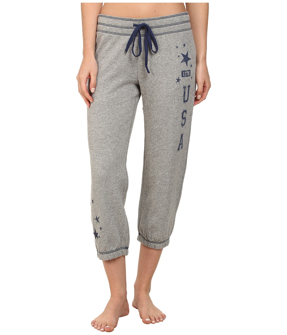 P.J. Salvage - Team USA Heather Grey Sleep Bottom (Heather Grey) Women's Pajama