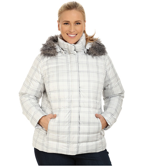 Columbia - Plus Size Mercury Maven IV Jacket (Sea Salt Plaid) Women