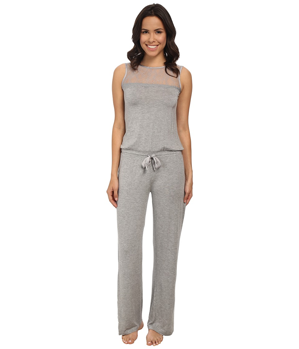 P.J. Salvage - Luxe Lounge Romper (Heather Grey) Women's Jumpsuit & Rompers One Piece