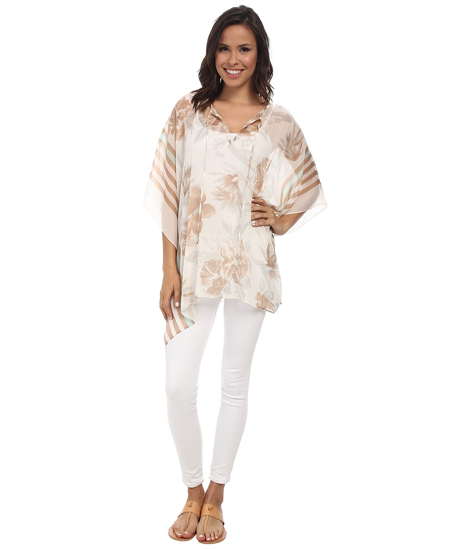 Tommy Bahama - Versilia Garden Tunic Top (Light Coffee) Women's Blouse