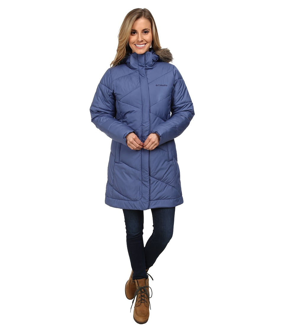 Columbia - Snow Eclipse Mid Jacket (Bluebell) Women's Coat