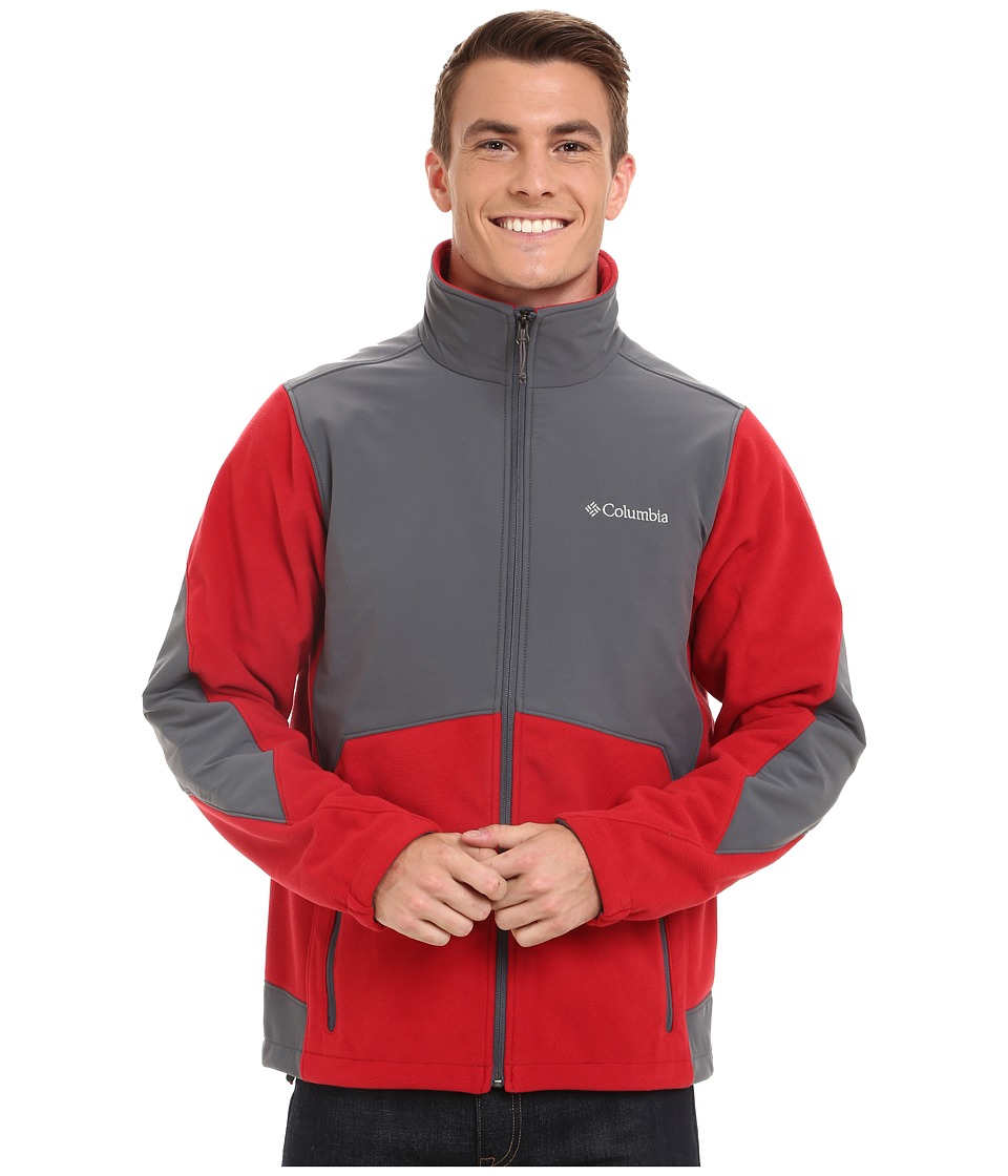 Columbia - Ballistic III Fleece Jacket (Rocket/Graphite) Men's Fleece