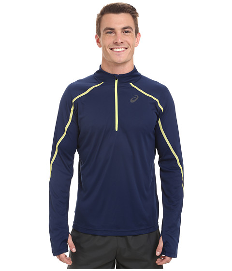 ASICS - Lite-Show Long Sleeve 1/2 Zip (Indigo Blue) Men