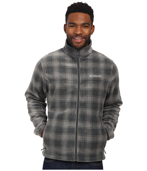 Columbia - Steens Mountain Print Jacket (Graphite Lumberjack) Men's Coat