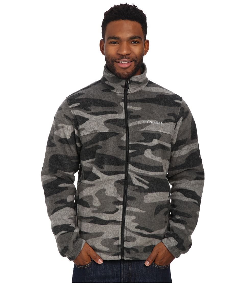 Columbia - Steens Mountain Print Jacket (Black Tweed Camo) Men's Coat
