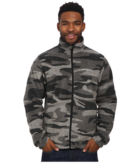 Columbia - Steens Mountain Print Jacket (Black Tweed Camo) Men