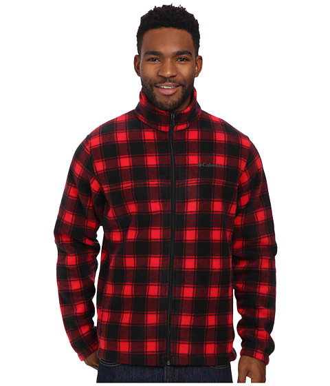 Columbia - Steens Mountain Print Jacket (Bright Red Lumberjack) Men's Coat