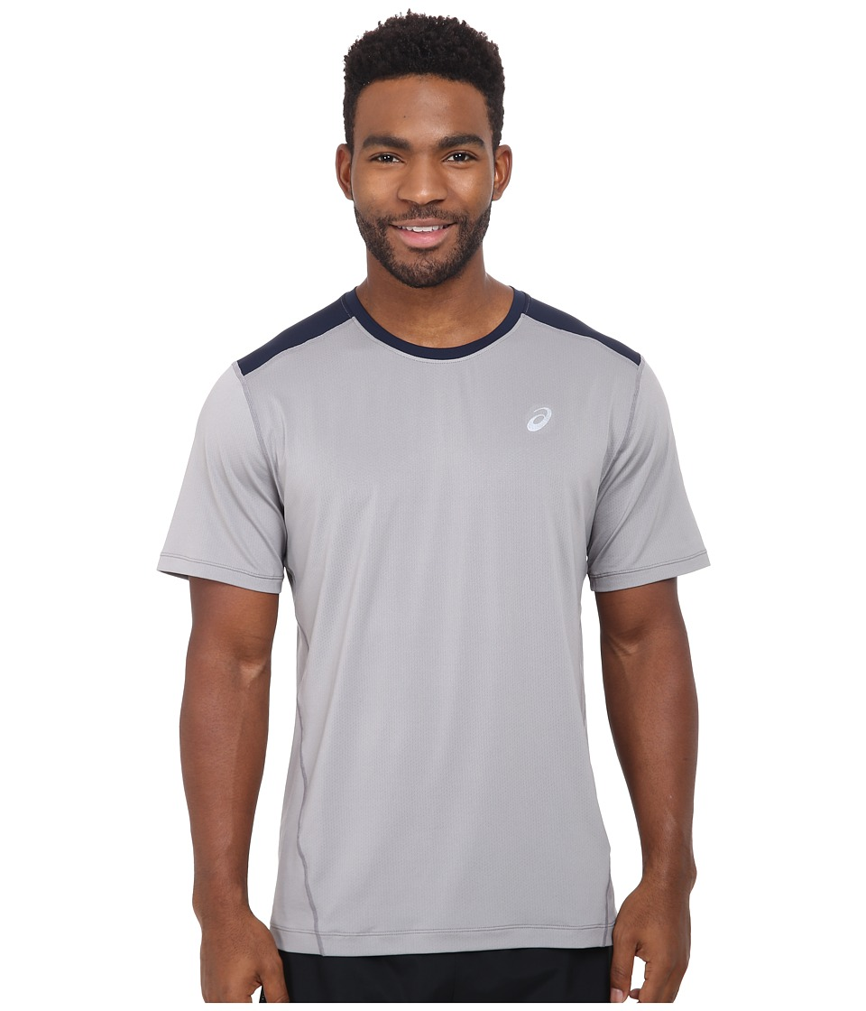 ASICS - PR Lyte Short Sleeve (Frost/Dark Cobalt) Men's Workout