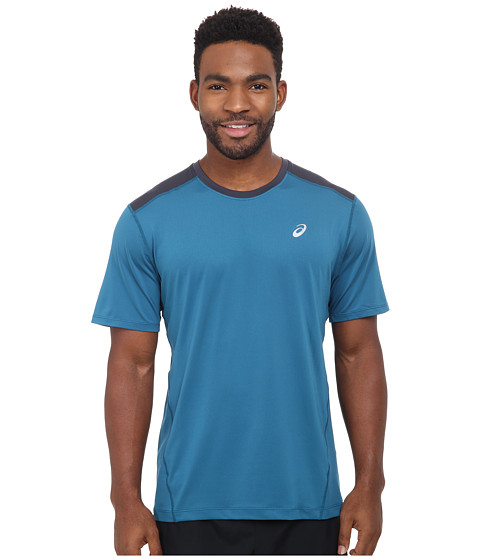 ASICS - PR Lyte Short Sleeve (Mosaic Blue/Steel) Men's Workout