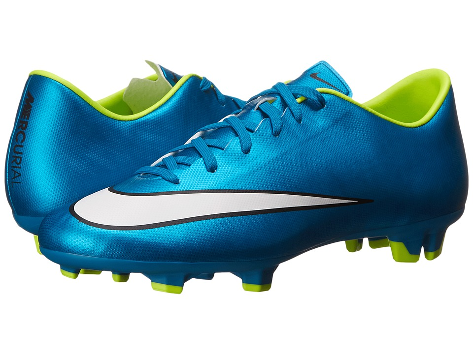 Nike - Mercurial Victory V FG (Blue Lagoon/Volt/Black/White) Women's Soccer Shoes